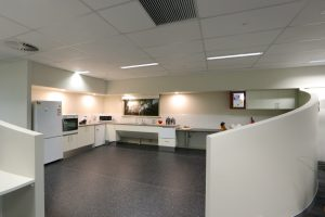 Completed commercial kitchen interior for ILC Cockburn