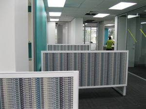 Creative office interior partitions