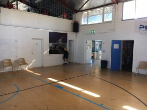 sport court floor at PCYC Midland in original condition