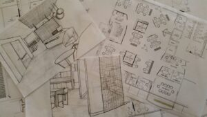 sketches and ideas for the Mammoet design & fitout